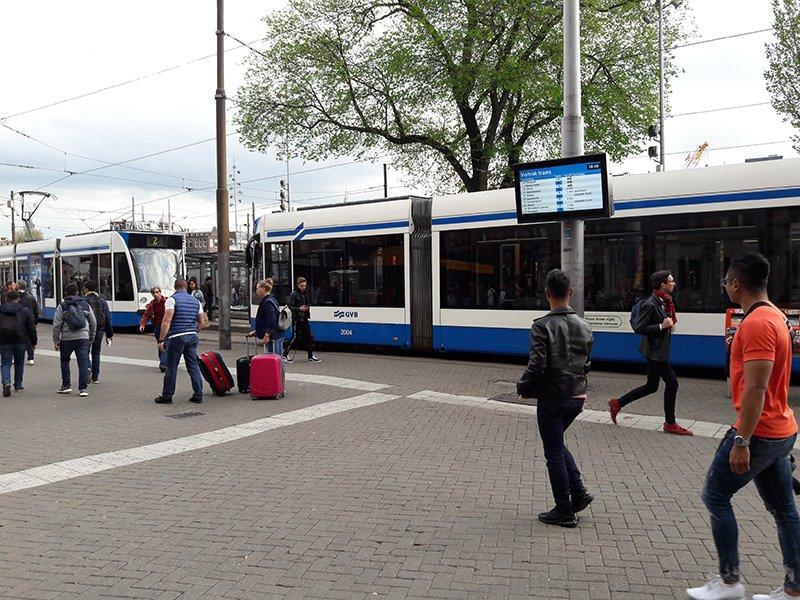 Общественный транспорт в Амстердаме. Трамваи