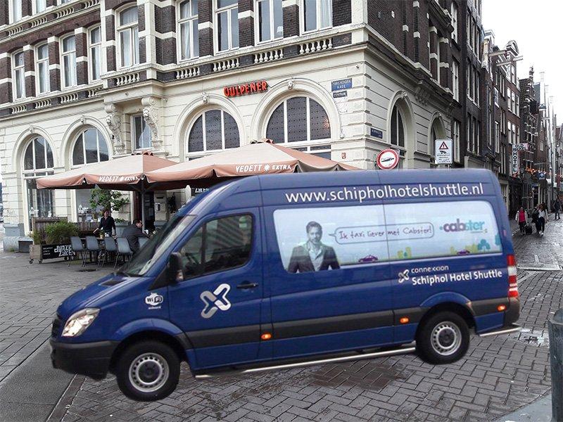 Микроавтобусы для трансфера из аэропорта прямо до отеля в Амстердаме