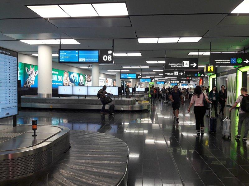 Зал получения багажа в терминале 3