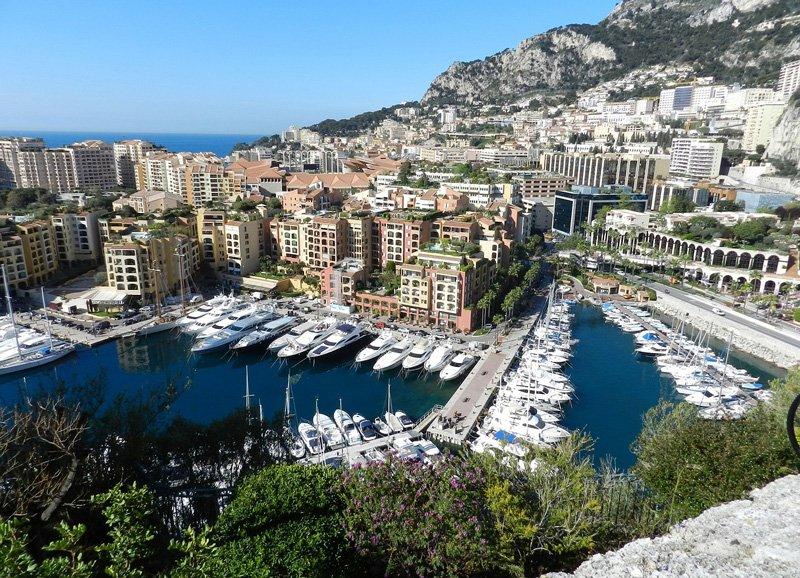 Пор де Фонвьей в Монако. Вид со Старого города