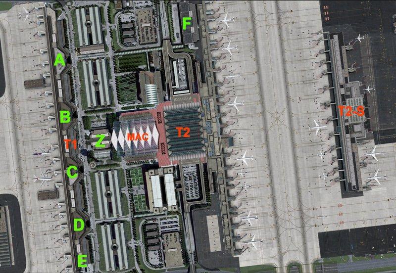 Карта аэропорта Мюнхен