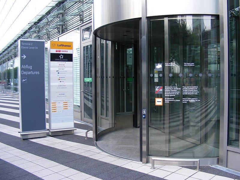 Вход в Т2 в аэропорту Мюнхена