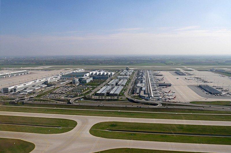 Аэропорт Мюнхена. Панорама