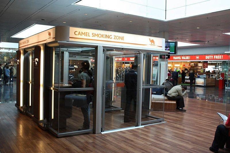 Место для курения в Т2.
